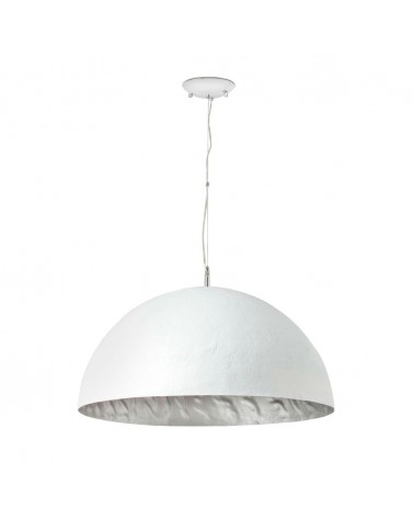 MAGMA-P white and silver pendant lamp