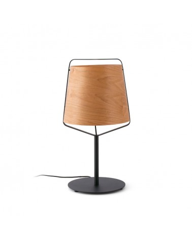 STOOD Black and wood table lamp 29846