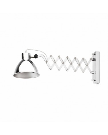 PETRA Chrome extensible wall lamp