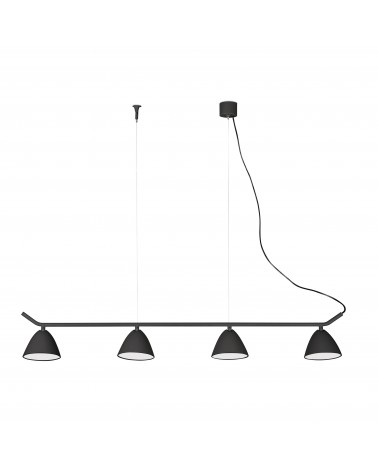 FLASH LED Black pendant lamp 4L