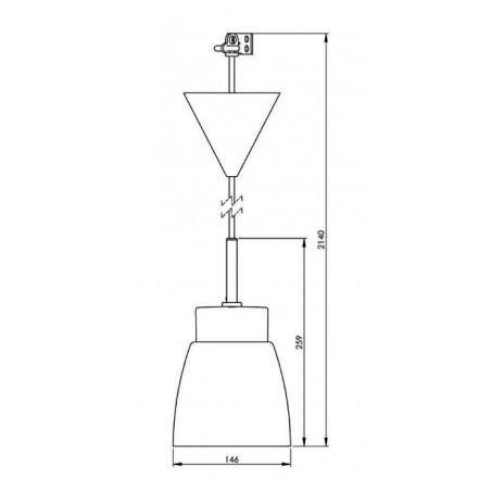 IE_7133-510-10 Ifo Electric Smycka Klara pendant clear glass