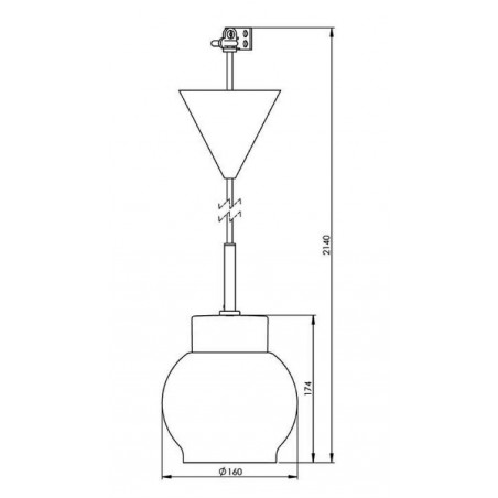 IE_7131-510-10 Ifo Electric Smycka Magda pendant clear glass