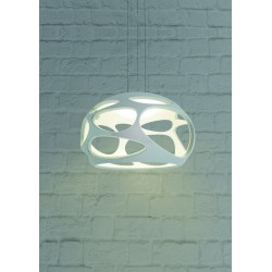M_5141 Mantra 5141 Organica Pendant 3 Light E27, Gloss White/Polished Chrome