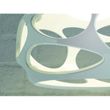M_5141 Mantra 5141 Organica Pendant 3 Light E27, Gloss White/Polished Chrome