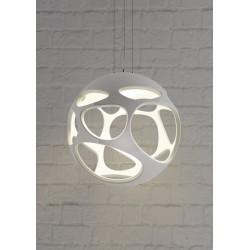 M_5140 Mantra 5140 Organica Pendant 3 Light E27, Gloss White/Polished Chrome