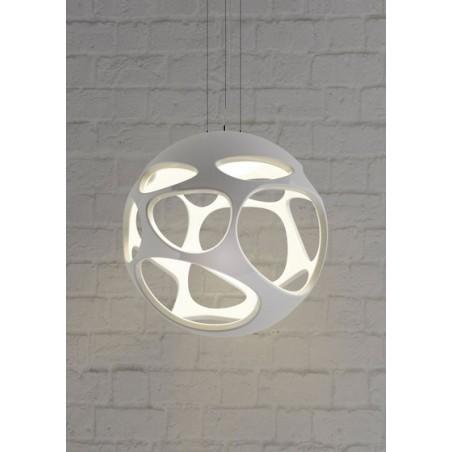 M_5144 Mantra 5144 Organica Pendant 1 Light E27, Gloss White/Polished Chrome