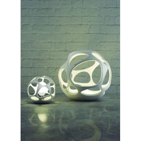 M_5146 Mantra 5146 Organica Table Lamp 3 Light E27, Gloss White/Polished Chrome