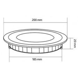 TP-00.01.115 Round 15W UltraSlim LED Panel
