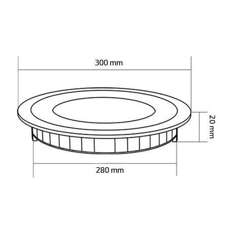 TP-00.01.124 Round 24W UltraSlim LED Panel