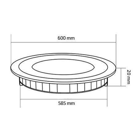 TP-00.01.148 Round 48W UltraSlim LED Panel