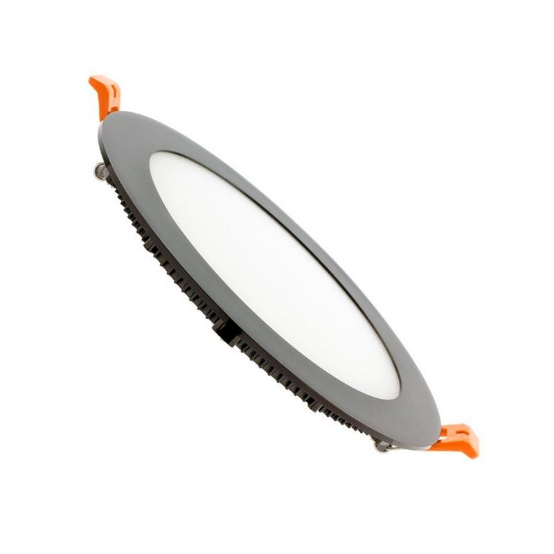 TP-00.99.112 Black Round 12W UltraSlim LED Panel