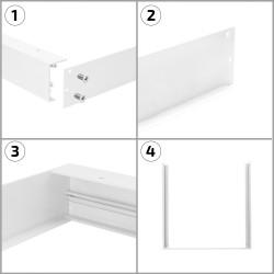 PL-SK.060.060.01 White Surface Kit for a 60x60cm LED Panel