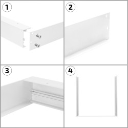 PL-SK.030.030.02 White Surface Kit for a 30x30cm LED Panel