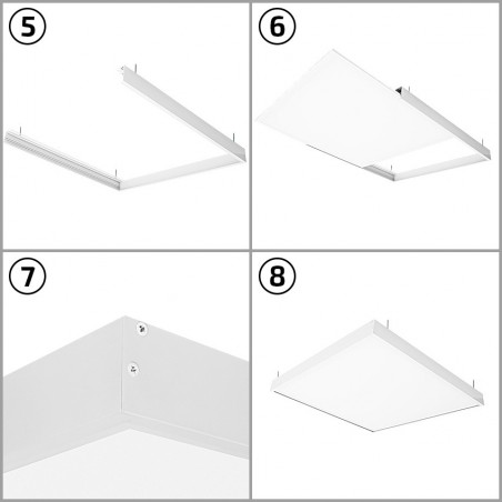 PL-SK.060.030.03 White Surface Kit for a 60x30cm LED Panel