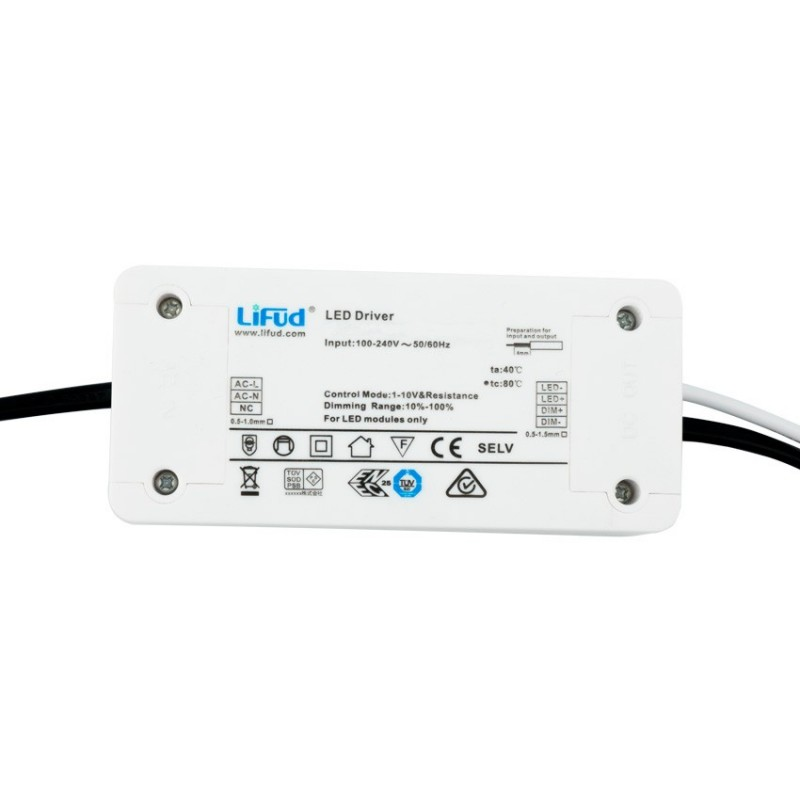 1123909 40W (1000mA) Lifud Dimmable Driver for LED Panels