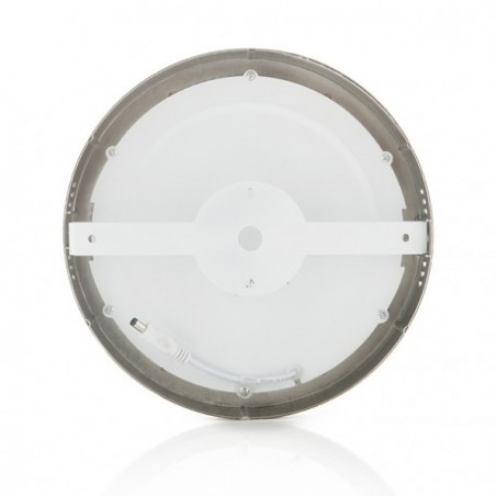 SP-00.22.018 Silver Round 18W LED Surface Panel