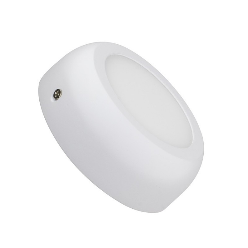 SP-08.01.006 White Round Design 6W LED Surface Panel