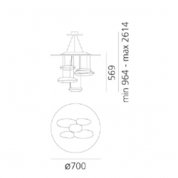 1477110A Artmide Mercury Mini Suspension LED 3000K