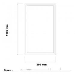 PL-120.030.040.19 40W 120x30cm Slim LED Panel White Frame - LIFUD