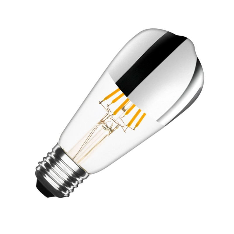 EL_24583845 Filament LED Bulb (Dimmable) Chrome Reflect ST64 E27 7.5W