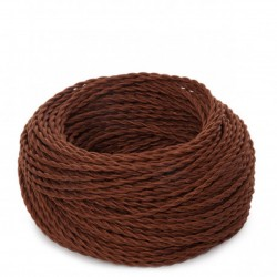 Brown Fabric Twisted...