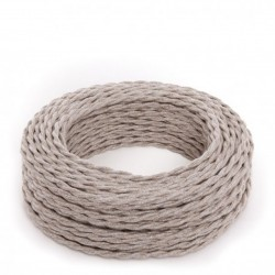 Canvas Beige Fabric Twisted...
