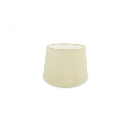 DY_D0297 30 cm Conical Fabric Lampshade Ivory Pearl/White Laminate