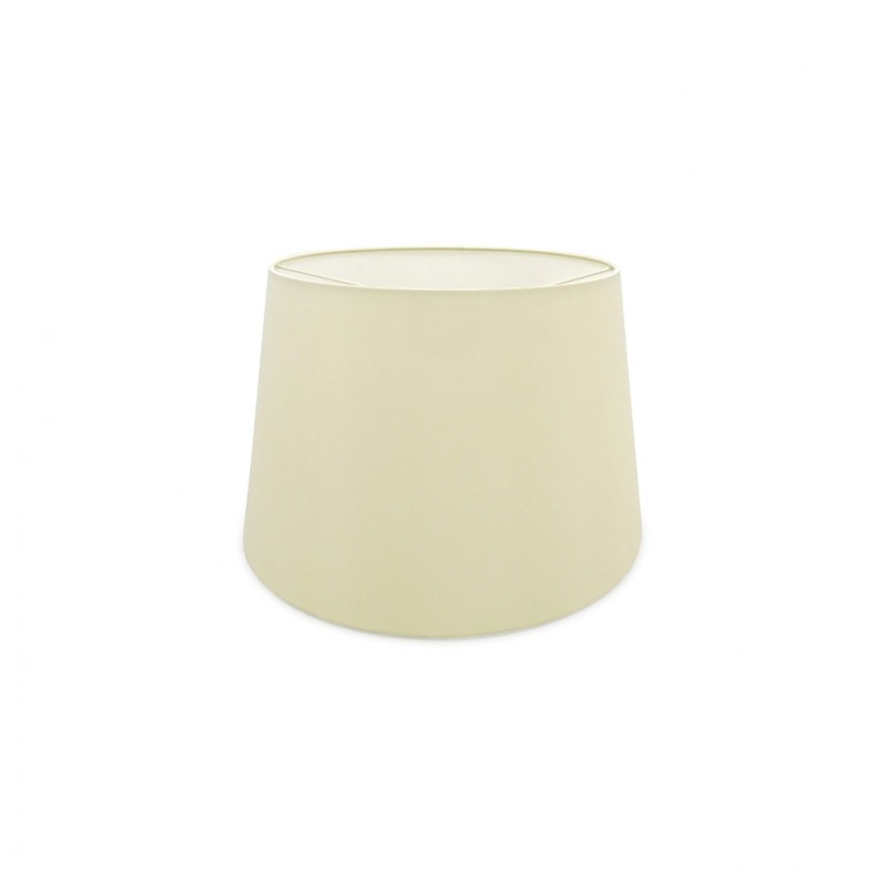 DY_D0299 40 cm Conical Fabric Lampshade Ivory Pearl/White Laminate