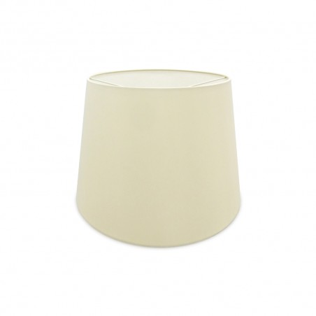 DY_D0300 45 cm Conical Fabric Lampshade Ivory Pearl/White Laminate