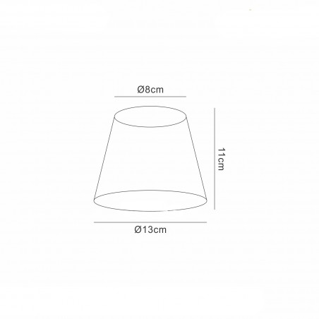 DY_MS007 13 cm Silk String Clip-On Lampshade Amber Cream