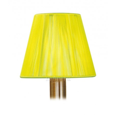 DY_MS008 13 cm Silk String Clip-On Lampshade Green