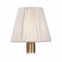 DY_MS010 13 cm Silk String Clip-On Lampshade Ivory White